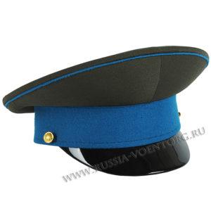 Фуражка офицерская оливковая с голубым околышем