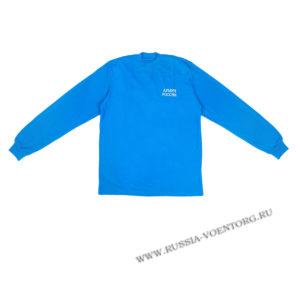 Футболка синего цвета длинный рукав