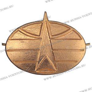 Эмблема петличная Космические войска золото,металл