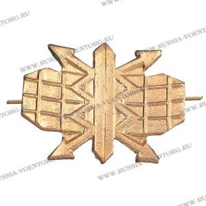 Эмблема петличная РТВ ВВС золото,металл