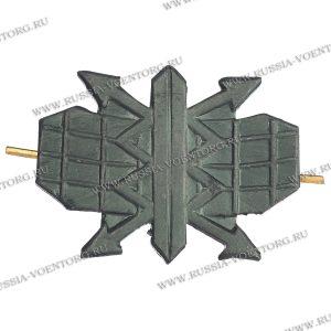 Эмблема петличная РТВ ВВС защитная,металл