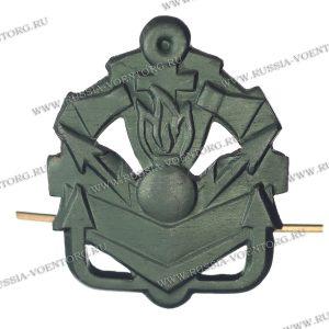 Эмблема петличная Инженерные войска н\о защитная,металл
