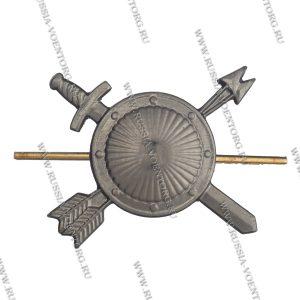 Эмблема петличная РВСН н\о защитная,золото