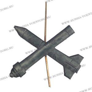 Эмблема петличная ЗРВ ВВС защитная,металл