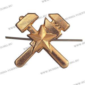 Эмблема петличная Топографическая служба н\о золото,металл