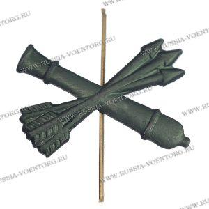 Эмблема петличная Войска ПВО н\о защитная,металл