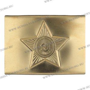 Бляха(пряжка) на солдатский ремень жестяная(тонкая латунь) Звезда СА