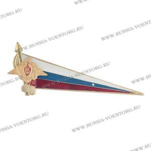 Флаг-уголок на берет металлический большой РА (флаг РФ с орлом РА)