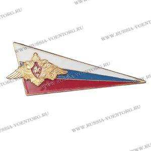Флаг-уголок с орлом РА металлический