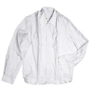 Рубашка форменная офицерская мужская(длинный рукав) белая