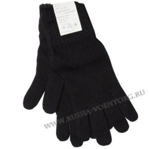 Перчатки п\ш черные для военнослужащих (одинарные)
