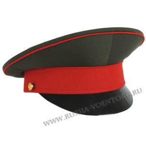 Фуражка офицерская оливковая с красным околышем