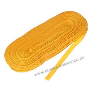 Галун шелковый желтого цвета 10 мм