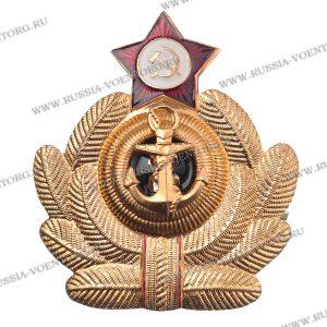 Кокарда ВФМ СССР офицерская,металл