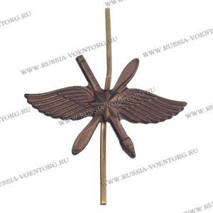 Эмблема петличная ВКС н\о защитная,металл