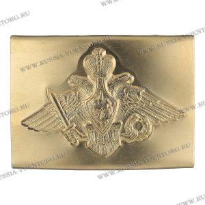 Бляха(пряжка) на солдатский ремень жестяная (тонкая латунь) Орел РА